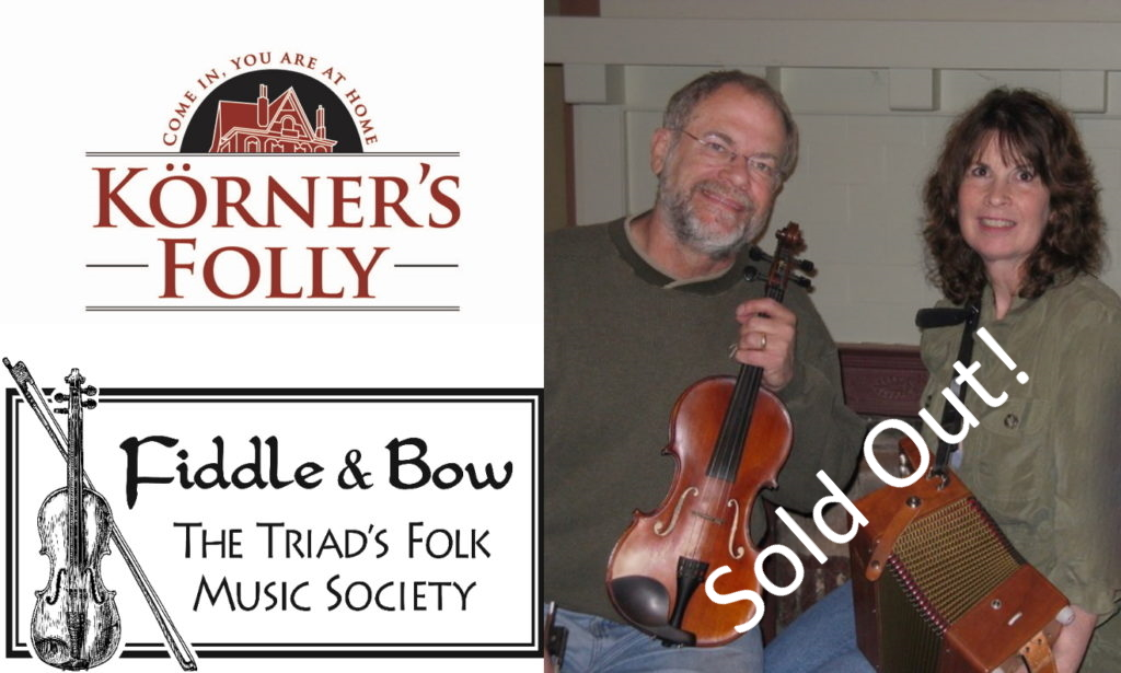 Victorian Parlor Series at Körner's Folly: Celtic Music with Fiddle & Bow